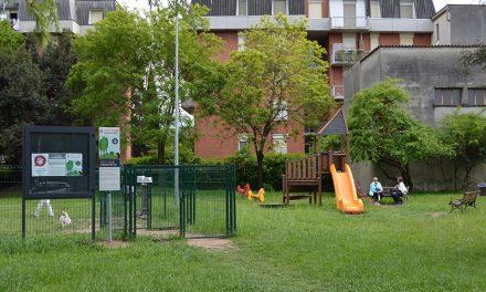 L'area sgambatura per cani al parco Piccinelli: nuovo regolamento