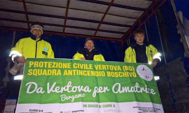 La solidarietà dei vertovesi verso le popolazioni colpite dal terremoto