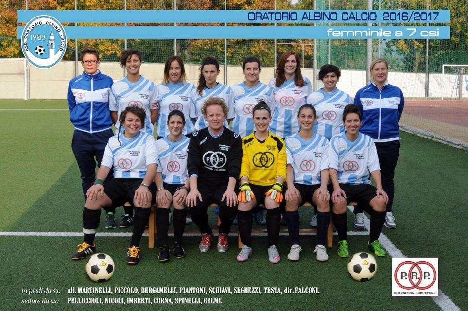 Ottima stagione per la squadra femminile dell'Oratorio Albino Calcio