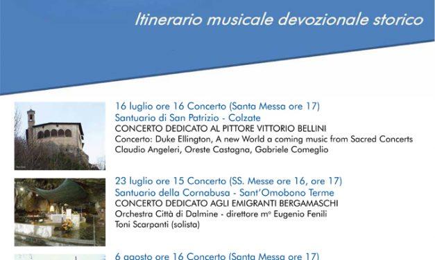 """2^ edizione di """"Santuari in concerto"""": il 6 agosto, tappa al Santuario del Colle Gallo"""