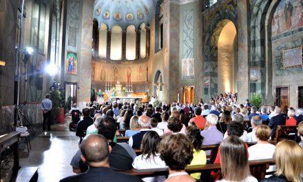 2 luglio 2017: S.Messa, in diretta televisiva RAI, per  celebrare i 100 anni della parrocchia di Comenduno