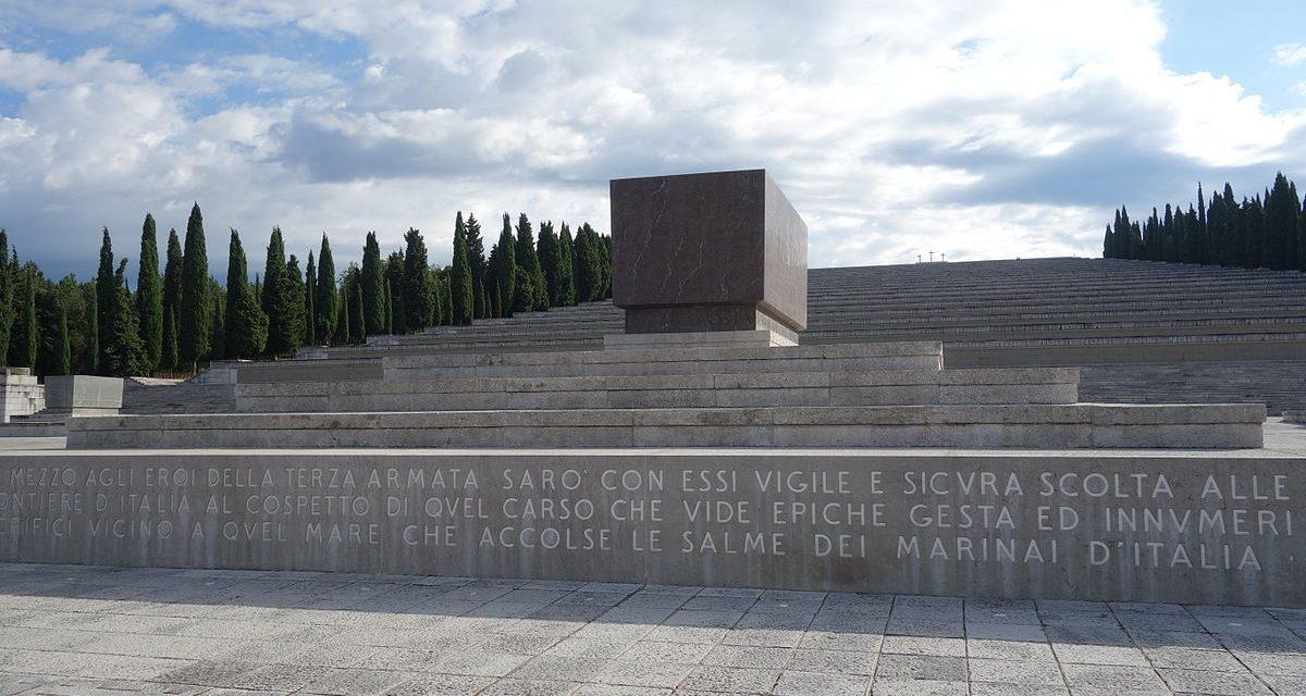 Si consegnano al tempio sacrario di Udine le onorificenze per i Caduti