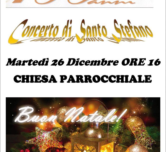 """""""Concerto di Santo Stefano"""" con il Corpo Musicale """"San Pio X°"""""""