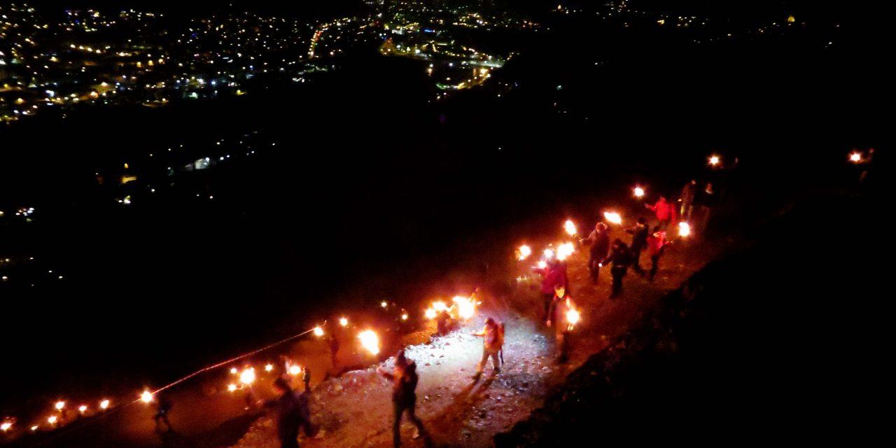 Fiaccolata di Natale organizzata dal Gruppo Scout