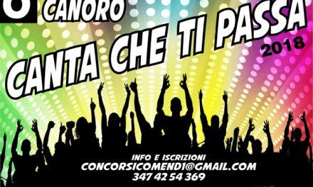 """C'è attesa per il Concorso Canoro """"Canta che ti passa"""". Iscrizioni entro il 10 aprile."""