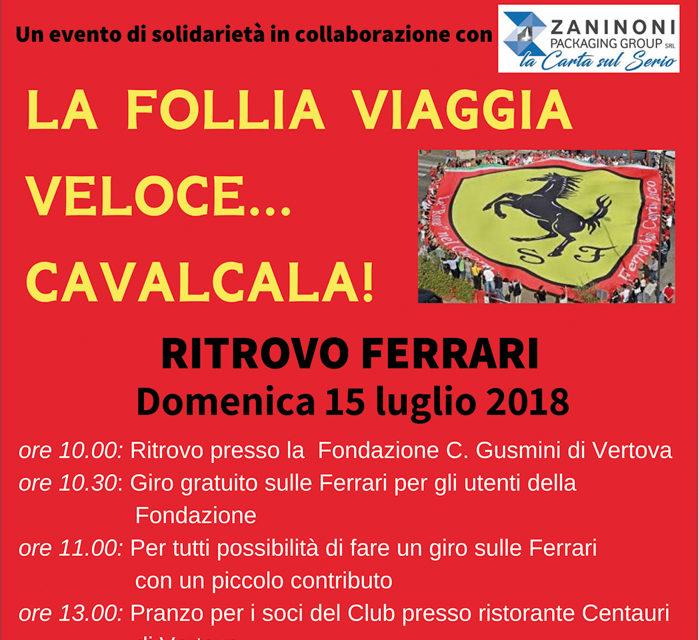 """Un raduno """"ufficiale"""" Ferrari alla Fondazione IPS """"Cardinal Gusmini"""""""