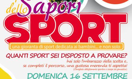 """Sport per tutti i gusti a… """"I sapori dello sport"""""""