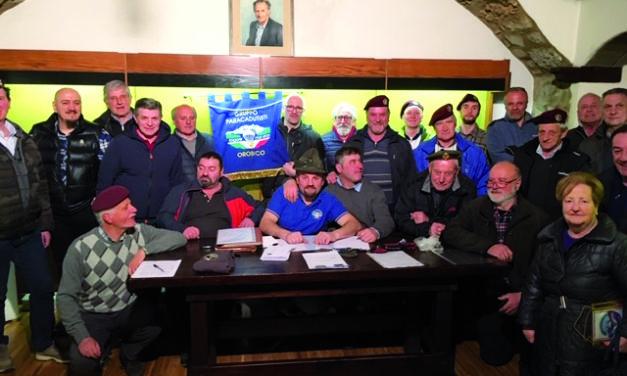 Prima assemblea elettiva per il Gruppo Paracadudisti Orobico