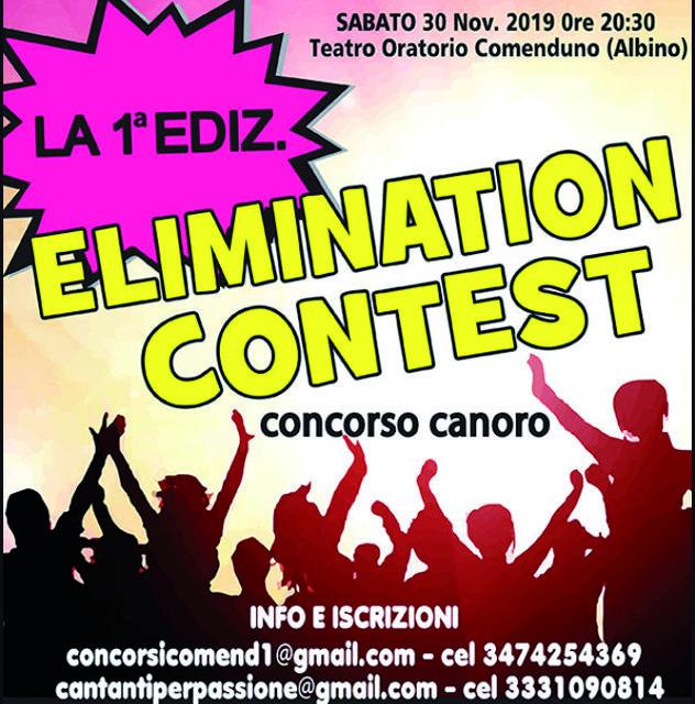 """Arriva, a Comenduno, il concorso canoro """"Elimination Contest"""""""