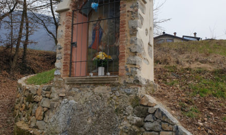 Restaurata la santella sul sentiero fra Grumelduro e Molinello
