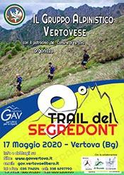 """Il GAV Vertova sposta ad ottobre il """"Trail del Segredont"""""""