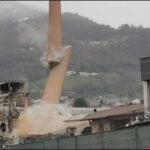 Demolita la ciminiera della ex-DO.MA.DE (Dolomite, Magnesio e Affini): si riqualifica l'area