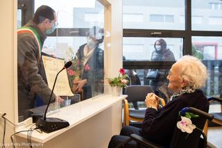 Festa alla Fondazione Honegger RSA per i 100 anni di Angelina Noris