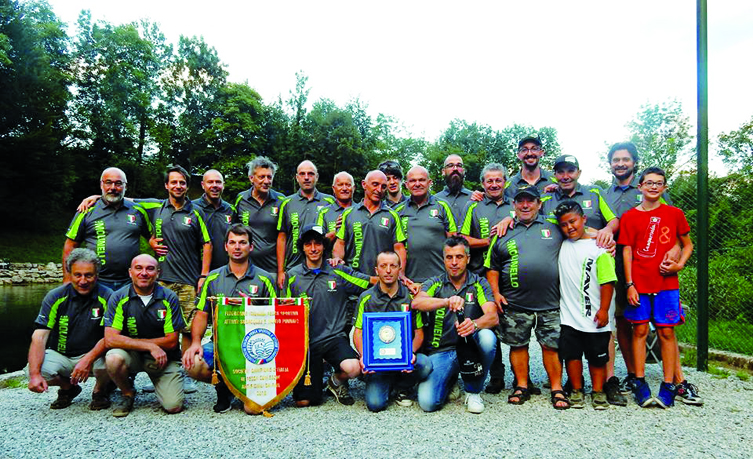 """La squadra di pesca-sportiva ASD """"Molinello"""" vince sul torrente Agno (Vicenza)"""